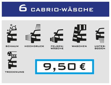 6-Cabrio-Wäsche